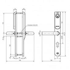 Беспроводной щиток E100 Euro Profile Standard Outside Euro Profile / Inside blind ASSA ABLOY с отверстием под цилиндр только с внешней стороны