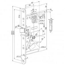 Беспроводной замок Финского стандарта AL581 для сплошных дверей