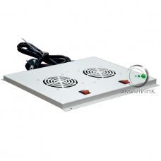 NTSS-FAN2/600 Вентиляторный модуль ПРЕМИУМ 2 элемента потолочный без термостата для напольных шкафов с глубиной 600мм