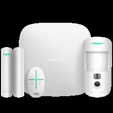 Ajax StarterKit Cam white Комплект сигнализации с фотоверификацией тревог