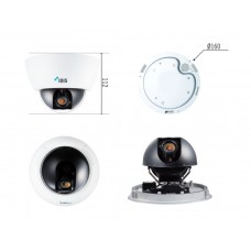 DC-D1223R 2-мегапиксельная купольная видеокамера для установки внутри помещений