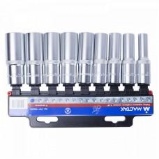 """МАСТАК 001-4009H набор торцевых глубоких головок 1/2"""", 10-22 мм, 9 предметов."""