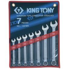 1207MR набор комбинированных ключей, 10-19 мм, 7 предметов KING TONY