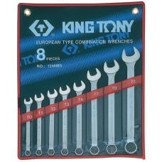 1208MR набор комбинированных ключей, 10-22 мм, 8 предметов KING TONY
