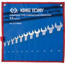 1211MRN набор комбинированных ключей, 8-24 мм, чехол из теторона, 11 предметов KING TONY