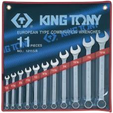 """1211SR набор комбинированных ключей, 1/4""""-15/16"""", 11 предметов KING TONY"""