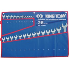 1226MRN набор комбинированных ключей, 6-32 мм чехол из теторона, 26 предметов KING TONY