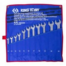 12A1MRN набор комбинированных удлиненных ключей, 8-24 мм, чехол из теторона, 11 предметов KING TONY