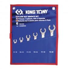 1306MRN набор разрезных ключей, 8-22 мм, чехол из теторона, 6 предметов KING TONY