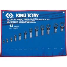 1712MRN набор накидных ключей, 6-32 мм, чехол из теторона, 12 предметов KING TONY