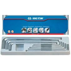 20208MR01 набор г-образных шестигранников 3-14 мм, 8 предметов KING TONY