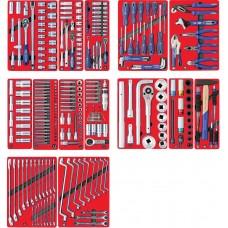 """МАСТАК 5-00299 набор инструментов """"профи"""" для тележки, 14 ложементов, 299 предметов"""