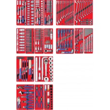 """МАСТАК 5-00323 набор инструментов """"эксперт"""" для тележки, 17 ложементов, 323 предмета"""