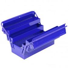 МАСТАК 510-05420B ящик инструментальный раскладной, 5 отсеков, синий.