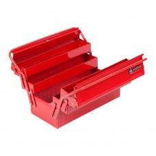 МАСТАК 510-05420R ящик инструментальный раскладной, 5 отсеков, красный.