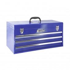 МАСТАК 511-03530B ящик инструментальный, 3 полки, синий