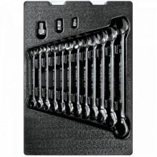 9-10115MR набор трещоточных комбинированных ключей, ложемент, 15 предметов KING TONY