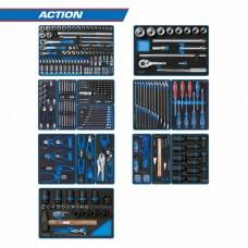 934-327MRVD набор инструментов для тележки KING TONY ACTION 15 ложементов 327 предметов