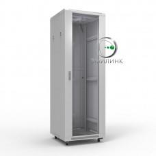 """NTSS-R18U6060GS 19"""" напольный шкаф """"ПРЕМИУМ"""" 18U 600x600 мм, передняя дверь стекло"""