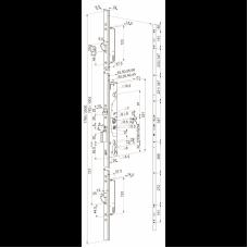 MP418 ABLOY- моторный замок многоточечного запирания для узкопрофильных дверей.