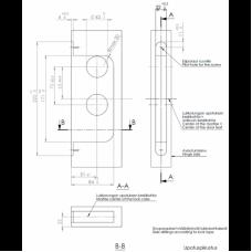 ABLOY OneFit EL581 - соленоидный замок с управлением от нажимной ручки