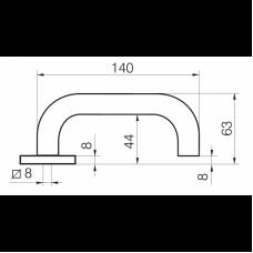 Односторонняя ручка INOXI 3-19/030 ABLOY