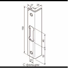 0065 ABLOY запорная планка сталь оцинкованная с лаковым покрытием