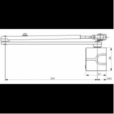 DC336DA ASSA ABLOY дверной доводчик для до 120 кг с клапаном регулировки функции отложенного закрывания