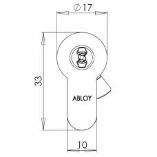 Электромеханический цилиндр CLIQ CYL332 ABLOY
