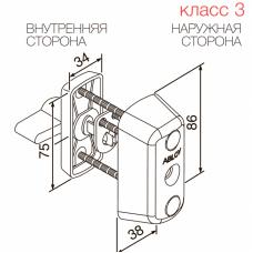 Цилиндр с поворотной кнопкой CY066 ABLOY для профильных дверей.
