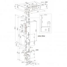 PE901 ABLOY комплект механических защелок LE930-LE931-LE932 на пассивную створку (антипаника)