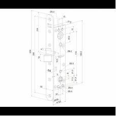 EL482 ABLOY замок электромеханический финского стандарта для узкопрофильных дверей