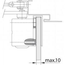 DC200 ASSA ABLOY дверной доводчик + монтажная пластина A164 для стеклянных дверей с рамой весом до 80 кг c регулируемым усилием закрывания EN 2-4.