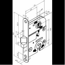 2018 ABLOY механический цилиндровый врезной замок для внутренних дверей