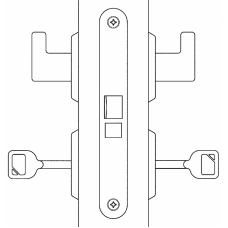 2011 ABLOY замок с ручкой для внутренних дверей